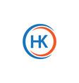 Hk company logo template design