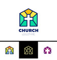 home church logo house bible logotype calvary vector image