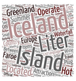 Iceland text background wordcloud concept vector image vector image