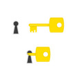 key and keyhole vector image