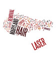 laser hair removal maryland text background word vector image vector image