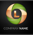 letter l logo symbol in the colorful triangle on vector image vector image
