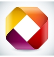 Moebius origami colorful paper rectangle on white vector image vector image