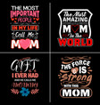 mom typographic quotes design vector image vector image