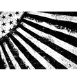 Monochrome Negative Photocopy American Flag vector image vector image