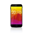 New Realistic Mobile Phone With Colorful Screen vector image vector image