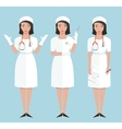 Nurse or Doctor in Poses Showing Making Injection vector image vector image