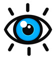 open eye color icon vector image vector image