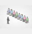 people sitting in chairs on audience speaker vector image vector image