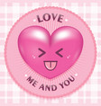 realistic love with rounded circle vector image