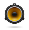 realistic speaker on white background for design vector image