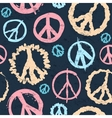 Retro Peace symbol seamless vector image