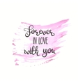 Romantic quote Love text for valentine day vector image
