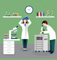 scientists people and laboratory composition vector image vector image