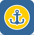 sea sticker icon anchor vector image vector image