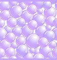 seamless pattern with soap bubbles realistic vector image