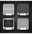 set metal ios icons vector image