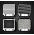 Set of metal ios icons vector image vector image