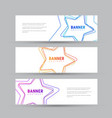 set of white horizontal banners with vector image vector image