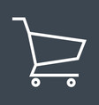 shopping cart thin line icon vector image