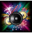 speaker explosion vector image vector image