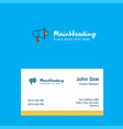 speaker logo design with business card template vector image