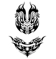 Two bike tattoos in tribal style vector image vector image