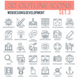 web design and development outline icons vector image vector image
