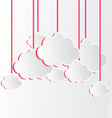 White Clouds with pink shadow hanging vector image vector image