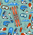 Winter sports collection pattern vector image
