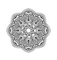 Zentangle stylized Elegant Round Indian Mandala vector image vector image