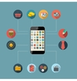 Flat Design Concept Mobile Phone Apps vector image