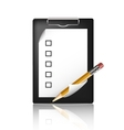 pencil and a blank board vector image