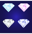 3d luxury diamond brilliant icon set different vector image vector image