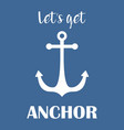 anchor simple print vector image vector image