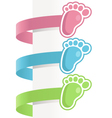 Baby Feet Labels vector image vector image