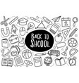 back to school icon set doodle style education vector image