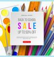 back to school sale banner vector image vector image