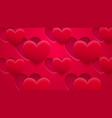 background holes and hearts with shadows vector image vector image