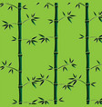 background with green bamboo stems seamless vector image vector image