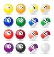 billiard balls 01 vector image vector image