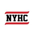 Black red text new york hardcore vector image
