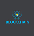 block chain logo or icon - 3d isometric cubes vector image vector image