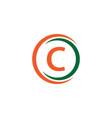 c company logo template design vector image vector image
