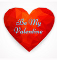 card happy valentines day with polygonal heart vector image