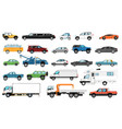 city cars set automobile types isolated bus vector image