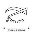 cluster lash extension linear icon vector image vector image