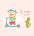color flat style design of urban character rider vector image