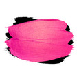 creative pink banner brush stroke for you vector image vector image