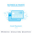 credit card symbols on white vector image vector image